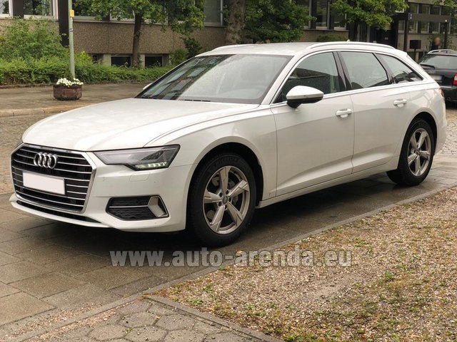 Hire and delivery to the Milan Central Train Station the car Audi A6 40 TDI Quattro Estate