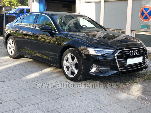 Hire and delivery to the Milan Central Train Station the car Audi A6 45 TDI Quattro