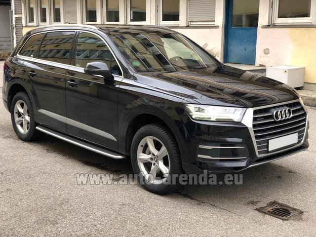Hire and delivery to the Milan Central Train Station the car Audi Q7 50 TDI Quattro 5-7 seats