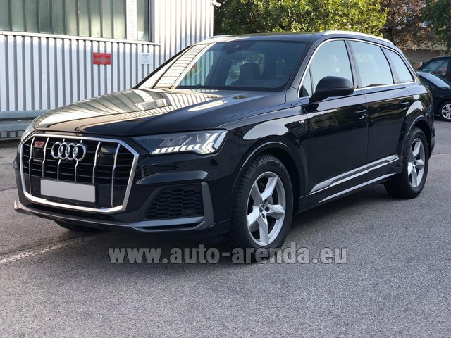 Hire and delivery to the Milan Central Train Station the car Audi Q7 50 TDI Quattro Equipment S-Line (5 seats)