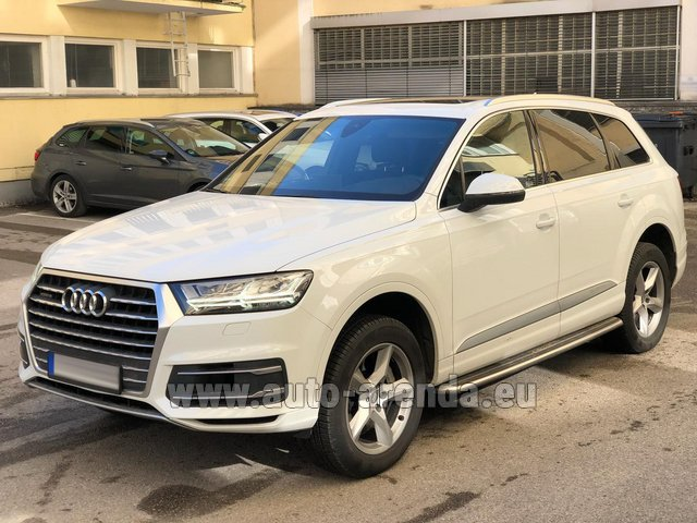 Hire and delivery to the Milan Central Train Station the car Audi Q7 50 TDI Quattro White