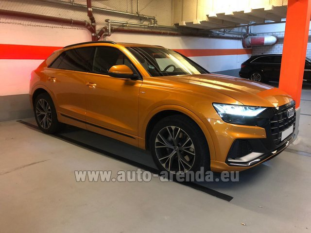 Hire and delivery to the Milan Central Train Station the car Audi Q8 50 TDI Quattro