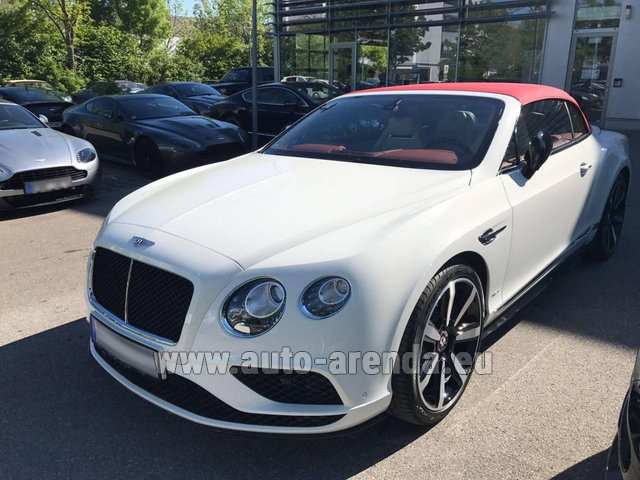 Rental Bentley Continental GTC V8 S in Milano Lombardia