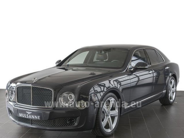 Прокат и доставка в аэропорт Брессо авто Бентли Mulsanne Speed V12