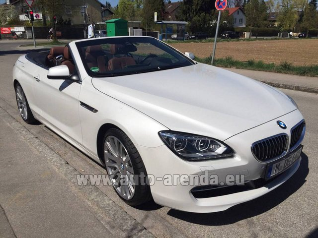 Rental BMW 640 Cabrio Equipment M-Sportpaket in Milano Lombardia