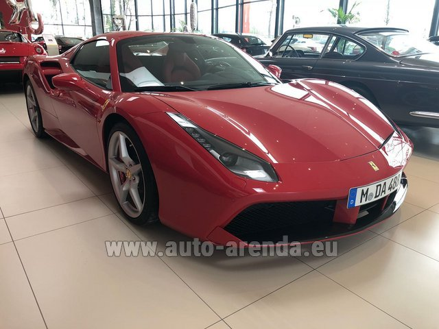 Hire and delivery to the Bresso airport the car Ferrari 488 Spider