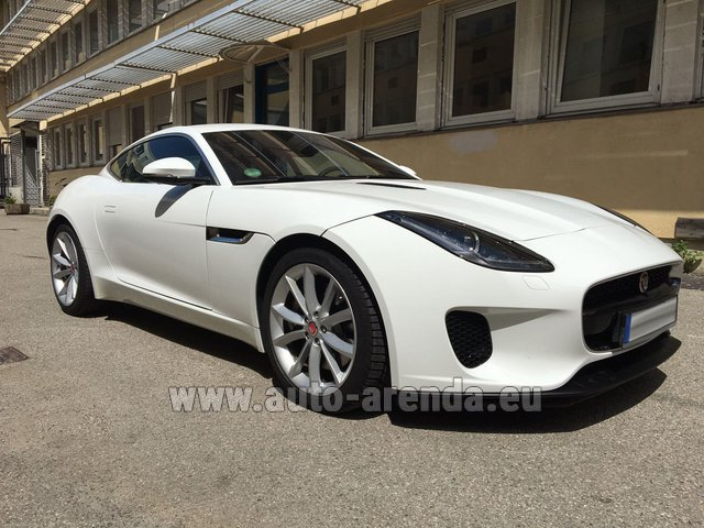 Hire and delivery to the Milano Linate airport (LIN) the car Jaguar F-Type 3.0 Coupe