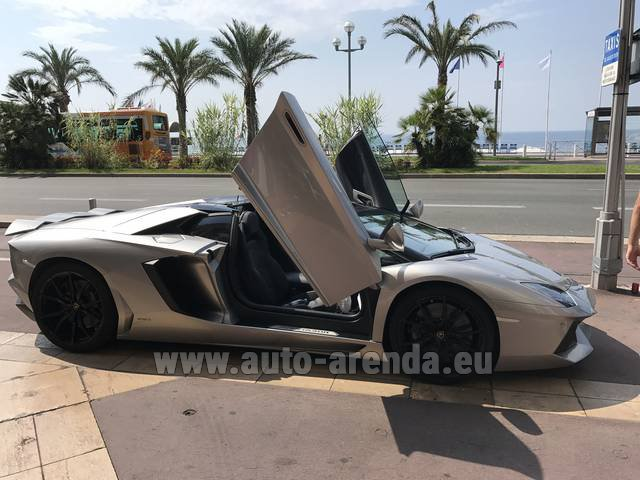 Hire and delivery to the Bresso airport the car Lamborghini Aventador LP 700-4
