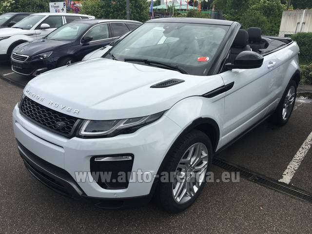 Hire and delivery to the Bresso airport the car Land Rover Range Rover Evoque HSE Cabrio SD4 Aut. Dynamic