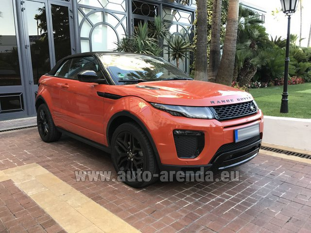 Hire and delivery to the Bresso airport the car Land Rover Range Rover Evoque HSE Cabrio SD4