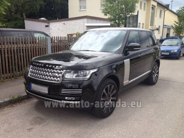 Hire and delivery to the Bresso airport the car Land Rover Range Rover SDV8 Autobiography