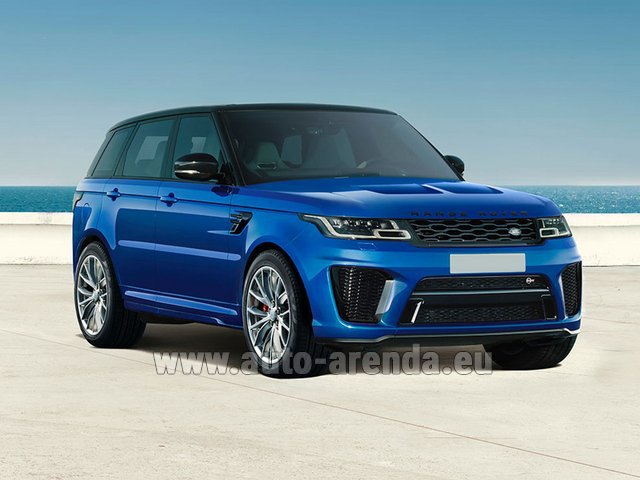 Hire and delivery to the Bresso airport the car Land Rover Range Rover Sport SVR V8