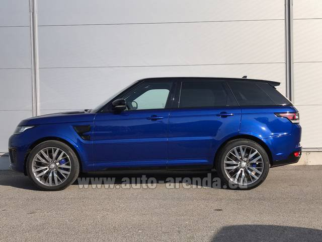 Hire and delivery to the Bresso airport the car Land Rover Range Sport SVR V8