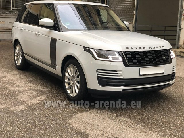 Hire and delivery to the Bresso airport the car Land Rover Range Rover Vogue P525