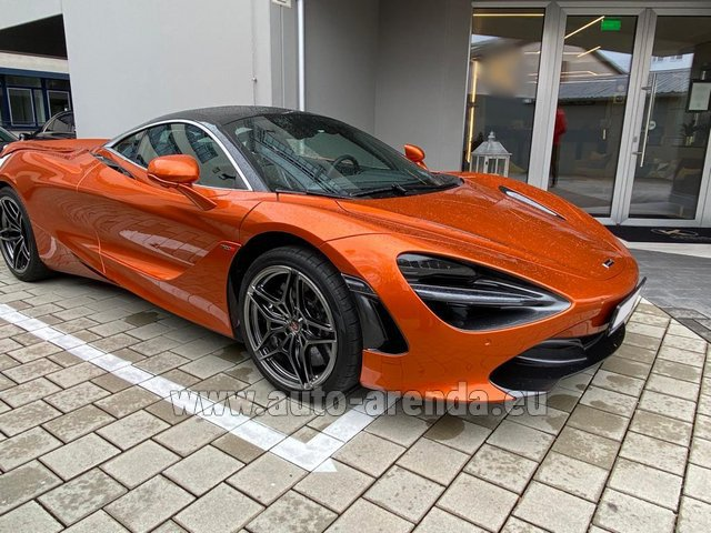 Hire and delivery to the Bresso airport the car McLaren 720S