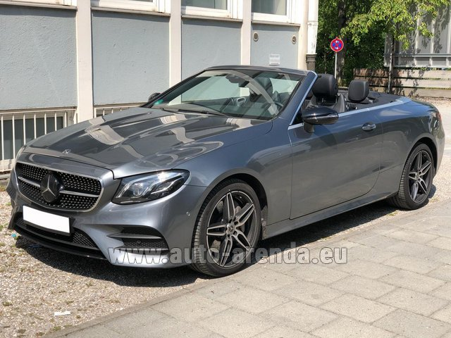 Rental Mercedes-Benz E 450 Cabriolet AMG equipment in Milano Lombardia