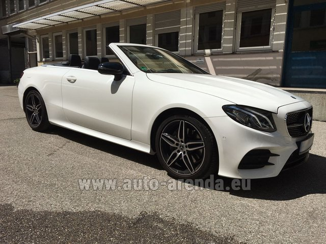 Rental Mercedes-Benz E-Class E 200 Cabrio in Milano Lombardia
