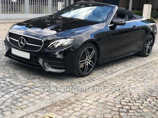 Hire and delivery to the Milan Central Train Station the car Mercedes-Benz E-Class E220d Cabriolet AMG equipment