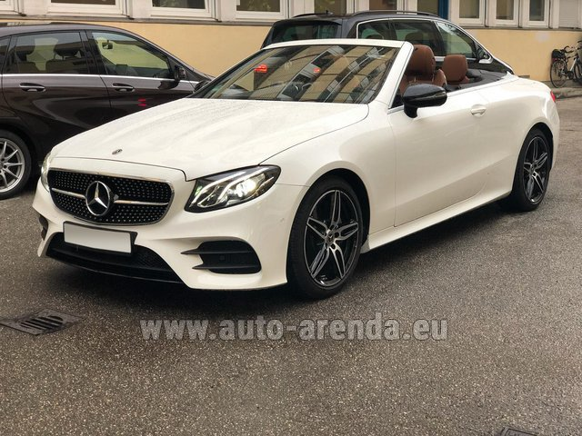 Hire and delivery to the Milan Central Train Station the car Mercedes-Benz E-Class E300d Cabriolet diesel AMG equipment