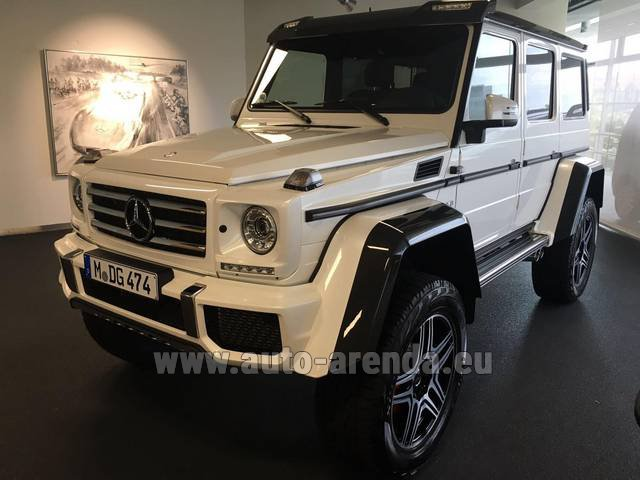 Rental Mercedes-Benz G 500 4x4 White in Milano Lombardia