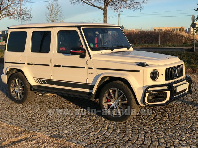 Hire and delivery to the Milan Central Train Station the car Mercedes-Benz G 63 AMG White