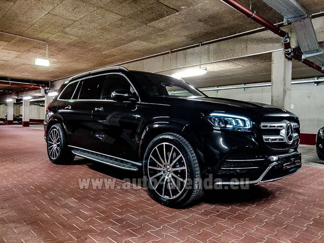 Прокат и доставка в аэропорт Милана Мальпенса авто Мерседес-Бенц GLS 400d 4MATIC BlueTEC комплектация AMG