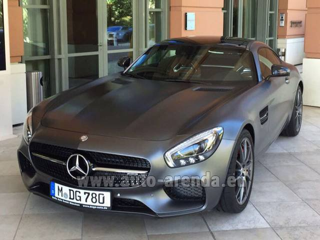 Hire and delivery to the Bresso airport the car Mercedes-Benz GT-S AMG