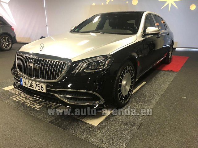 Прокат Maybach S 560 4MATIC комплектация AMG Metallic and Black в Милане в Ломбардии