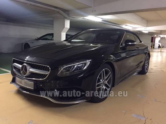 Rental Mercedes-Benz S 500 Cabrio Black in Milano Lombardia