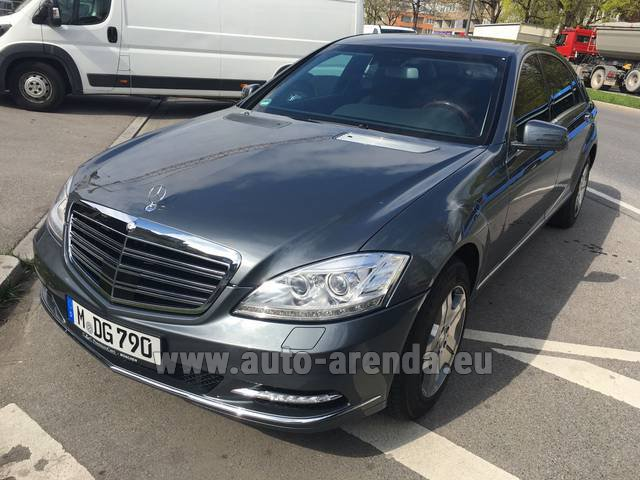 Hire and delivery to the Milano Linate airport (LIN) the car Mercedes-Benz S 600 L B6 B7 ARMORED Guard FACELIFT