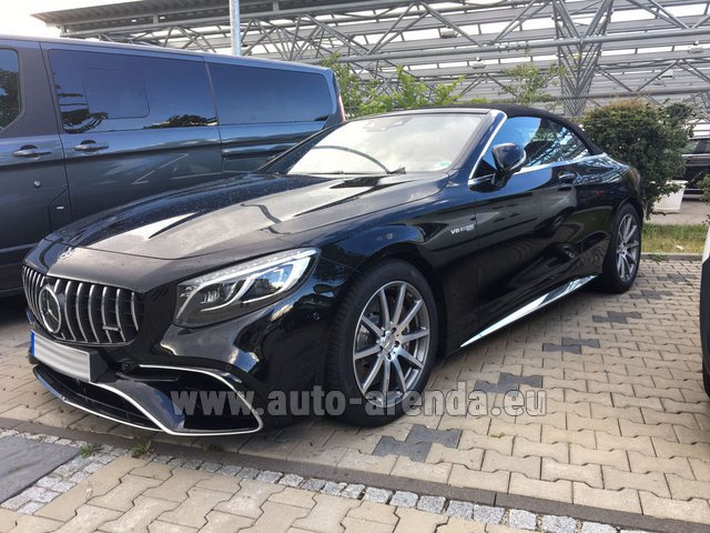 Hire and delivery to the Bresso airport the car Mercedes-Benz S 63 AMG Cabriolet V8 BITURBO 4MATIC+