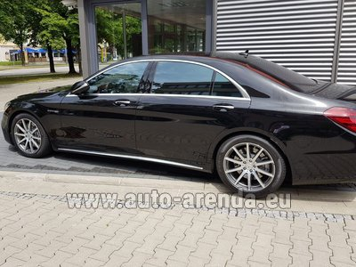 Mercedes S63 AMG Long 4MATIC для трансферов из аэропортов и городов в Милане в Ломбардии и Европе.