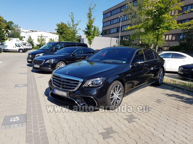 Hire and delivery to the Milano Linate airport (LIN) the car Mercedes-Benz S 63 AMG Long