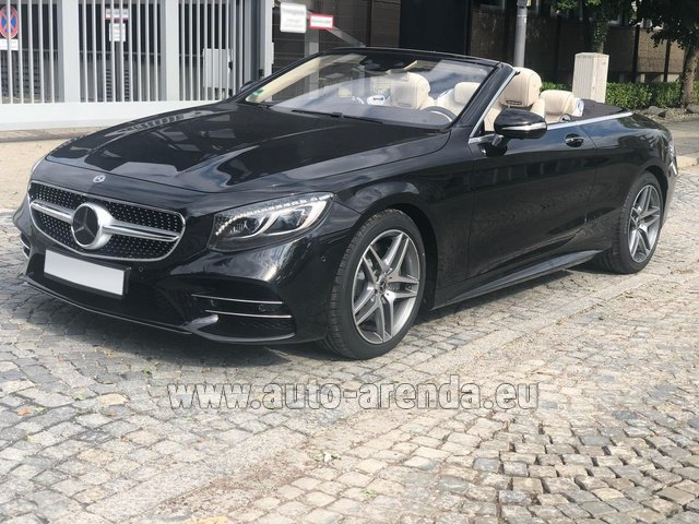 Hire and delivery to the Milan Central Train Station the car Mercedes-Benz S-Class S 560 Cabriolet 4Matic AMG equipment