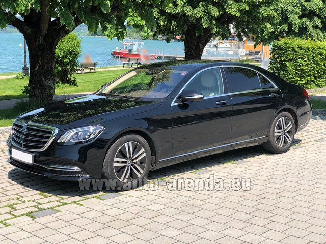 Hire and delivery to the Milano Linate airport (LIN) the car Mercedes-Benz S-Class S400 Long 4Matic Diesel AMG equipment
