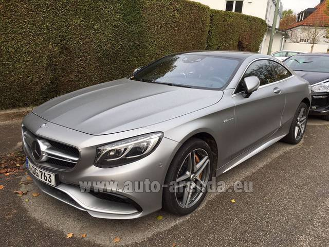 Hire and delivery to the Bresso airport the car Mercedes-Benz S-Class S63 AMG Coupe