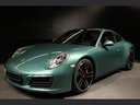 Rent-a-car Porsche 911 991 4S Racinggreen Individual Sport Chrono with its delivery to the Milano-Malpensa airport, photo 1