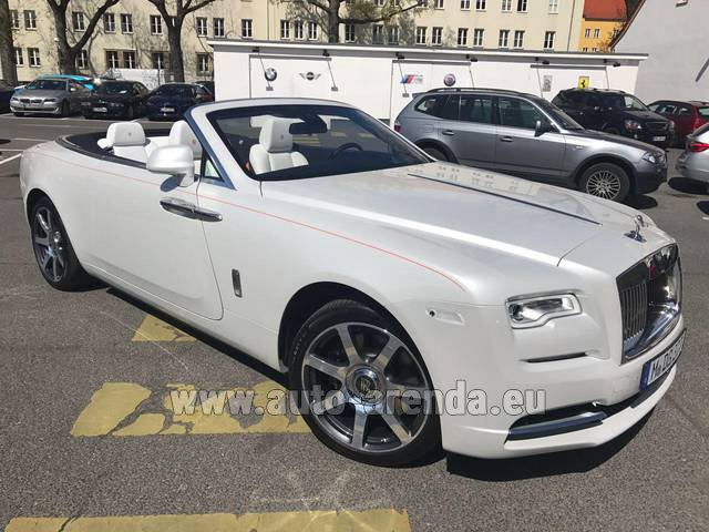 Rental Rolls-Royce Dawn (White) in Milano Lombardia